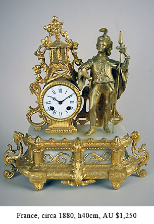 french figural alabaster clock