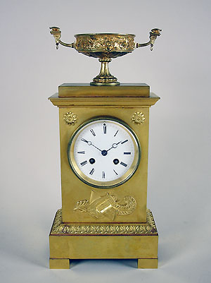 antique french bronze clock