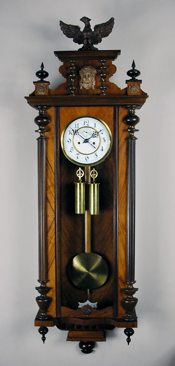 Antique German Regulator Vienna Clock H Endler Perth Wa