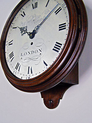 william hunter dial clock for sale