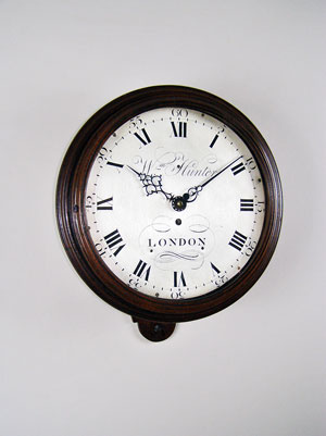 William Hunter dial clock