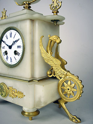 antique french alabaster clock