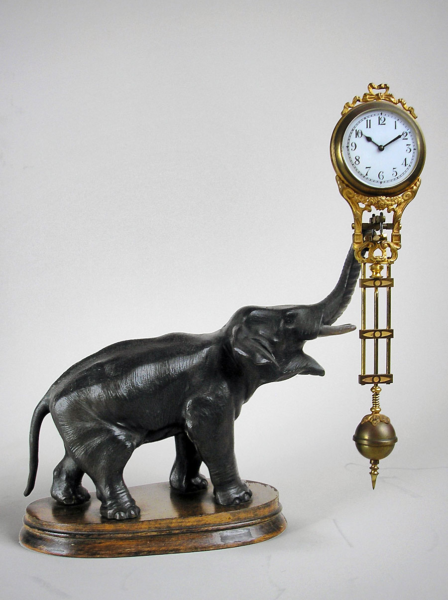 antique german elephant mystery clock for sale in perth wa. Black Bedroom Furniture Sets. Home Design Ideas
