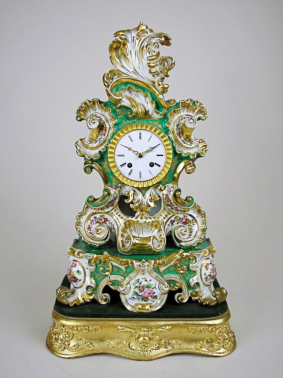 Antique Porcelain Clock By Jacob Petit For Sale Perth Wa