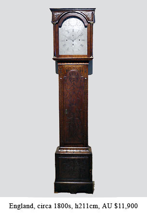 quarter chiming longcase clock