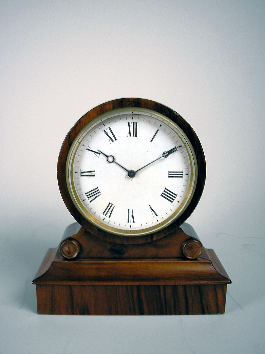 Antique Pierret Walnut Drumhead Clock For Sale In Perth Wa